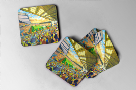 vicarage road Coaster set of four